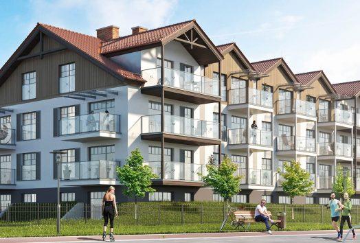 wizualizacja budynku od strony mariny