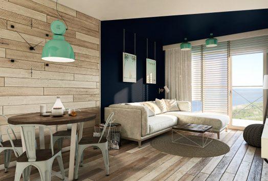 wizualizacja małego apartamentu wakacyjnego PORT-KRYNICA